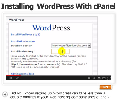 Installing WordPress Automatically Using cPanel