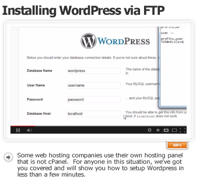 Installing WordPress Manually via FTP