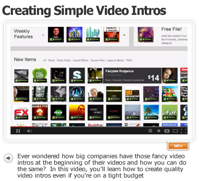 Creating Simple Video Intros