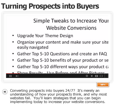 Turn Your Website Prospects Into Buyers