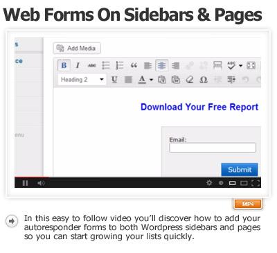 Part-2 Add Autoresponder To Sidebar