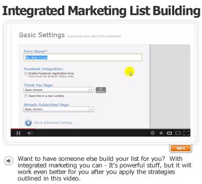 Integration Marketing List