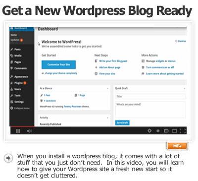 Get A New WordPress Blog Ready