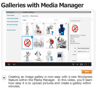 Creating Gallery With Media Manager