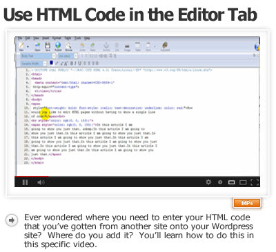 Add HTML Code To The Editor Tab