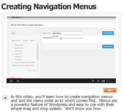 Create Navigation Menus and Sort Them