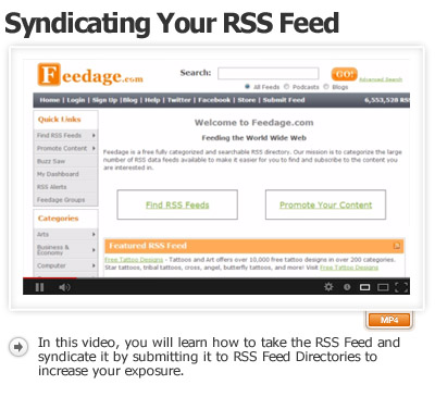 RSS Part-2 Syndicating Your Feed