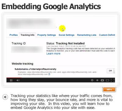 Embedding Google Analytics